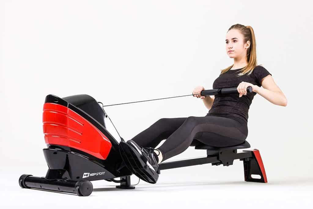 rameur-magnetique-tirage-central-HS-060R-Hop-Sport